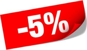 sconto 5%